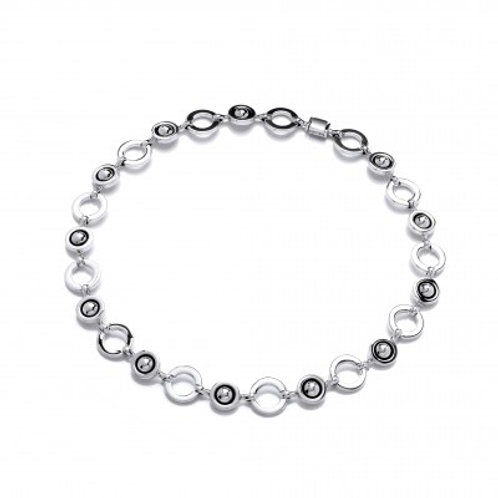 Saturn's rings silver necklace