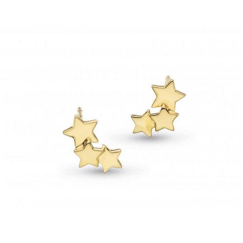 Stargazer Galaxy gold plated stud earrings