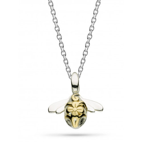 Blossom bumblebee wee rose gold plate necklace