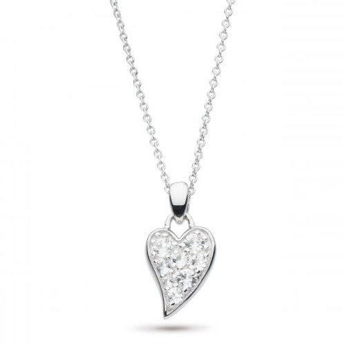Desire Precious white topaz small Heart necklace