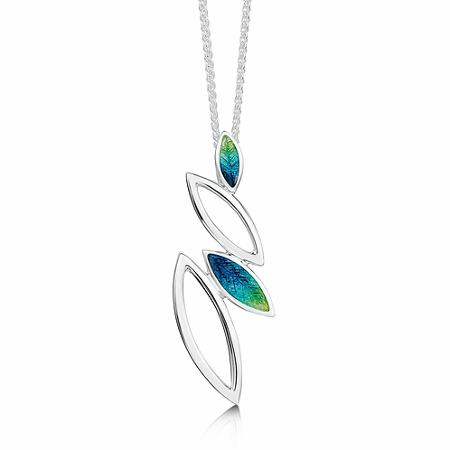 Seasons Spring silver pendant on18-20 inch chain