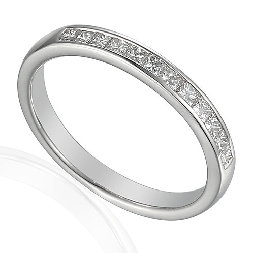 Princess cut Diamond platinum Eternity ring
