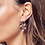 Thumbnail: Blossom Petal Bloom Trio Rose Gold Plate Drop Earrings