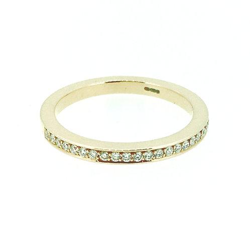 Diamond Rose Gold eternity ring