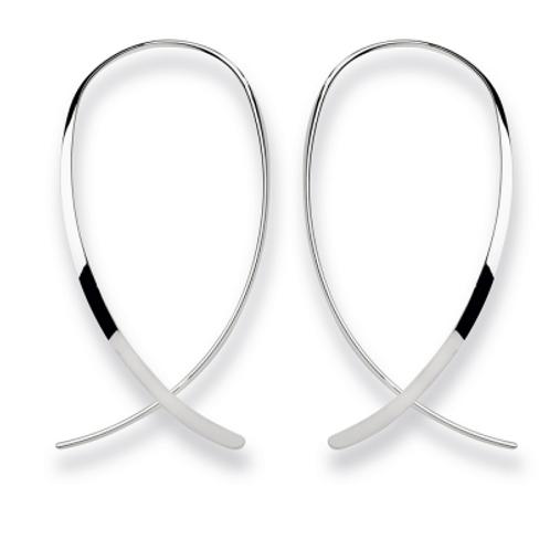 Ear hangers polished silver