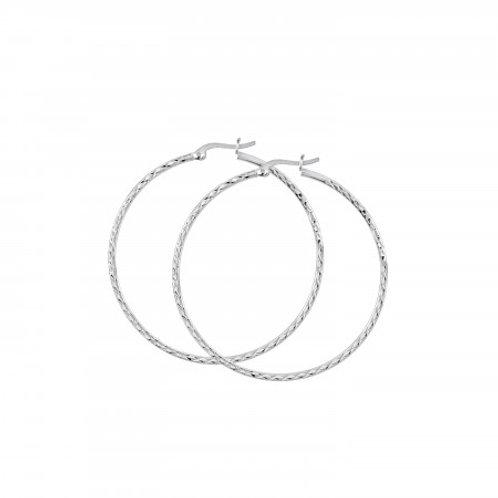 Diamond cut 30mm Hoop earrings
