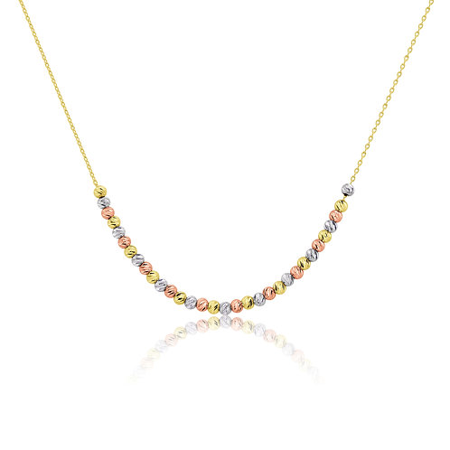 Three coloured Gold Necklace