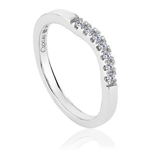 Past, Present & Future Clogau Diamond shaped wedding ring