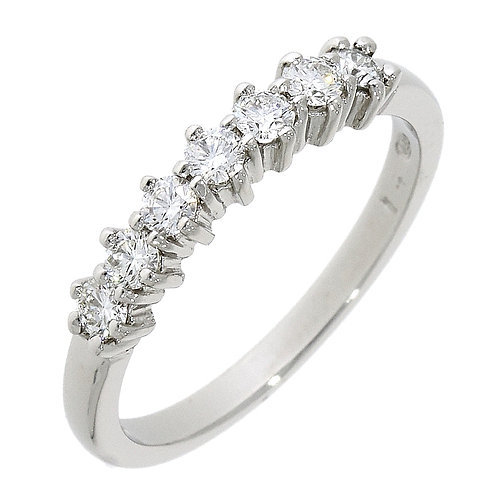 Diamond seven stone ring platinum
