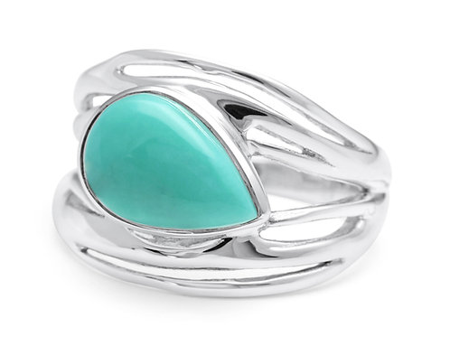 American Turquoise silver ring