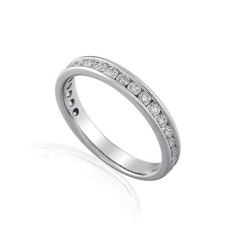 Channel set Eternity Diamond ring