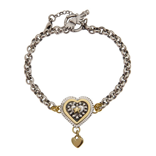 Layered Halo heart bracelet