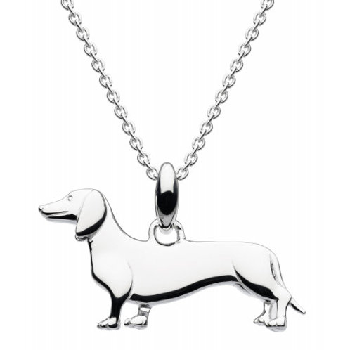Sausage Dog 3D Silver pendant