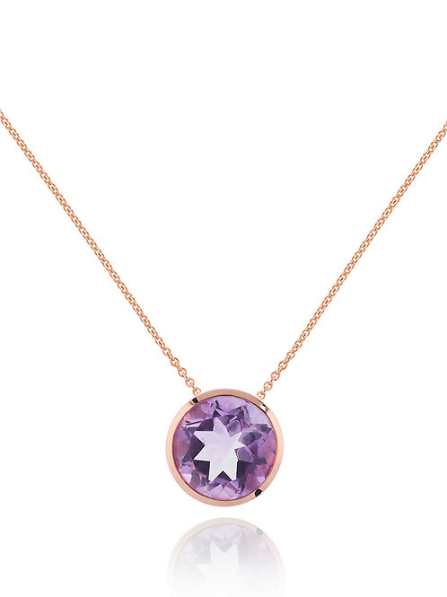 Juliet rose gold plated amethyst necklace