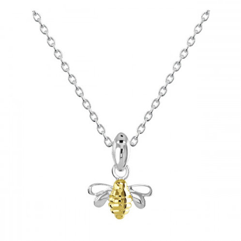 Dinky Silver and Gold plate Bee on adjustable chain
