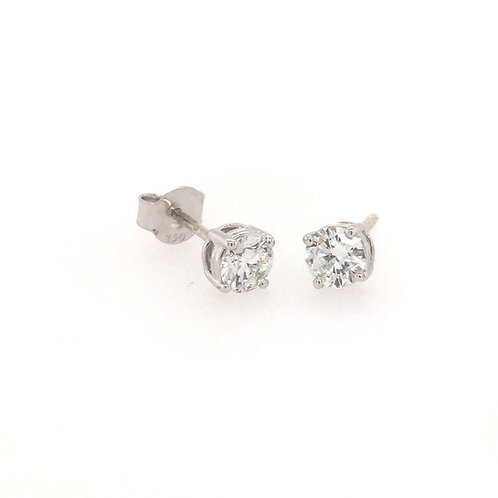 Diamond 0.8ct Solitaire (Lab grown) 18ct White Gold stud earrings