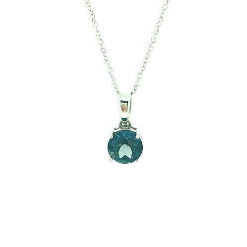 London Blue Topaz white gold pendant