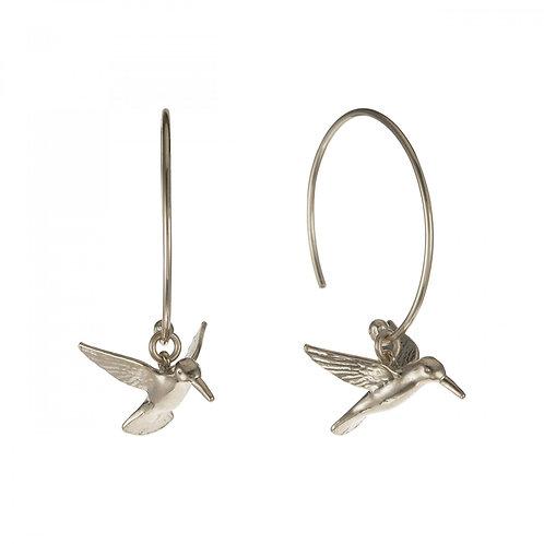 Hummingbird hoop earrings