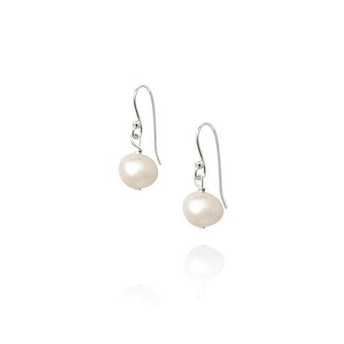 Essential white pearl drop earrings