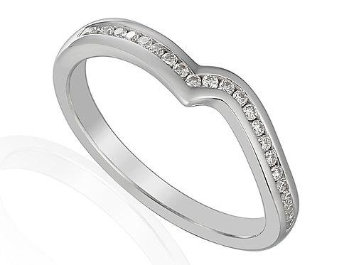 Diamond and Platinum shaped eternity ring