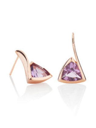 Amore amethyst and rose gold plated earrings
