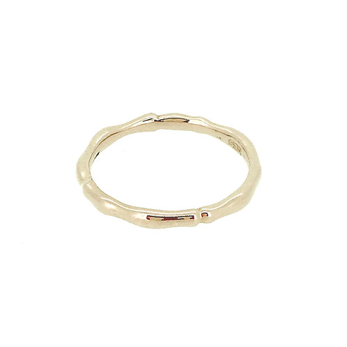 Rose Gold plate silver Reed ring