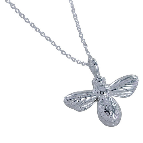 Bumblebee sterling silver necklace