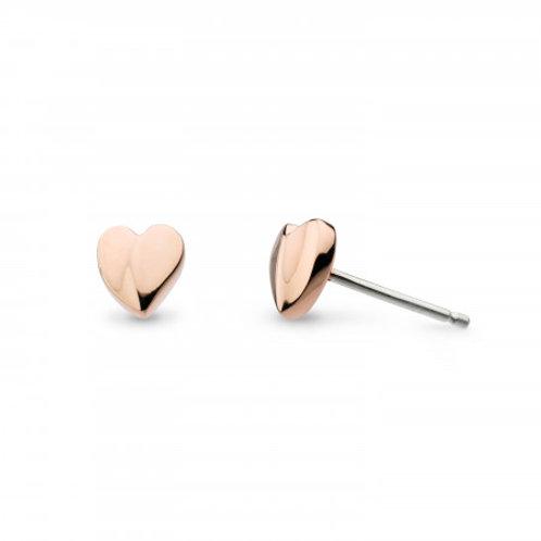 Miniature Sweetheart rose gold plated stud earrings