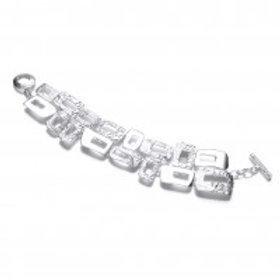 Mosaic silver bracelet