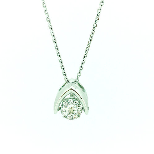 Floating Diamond pendant