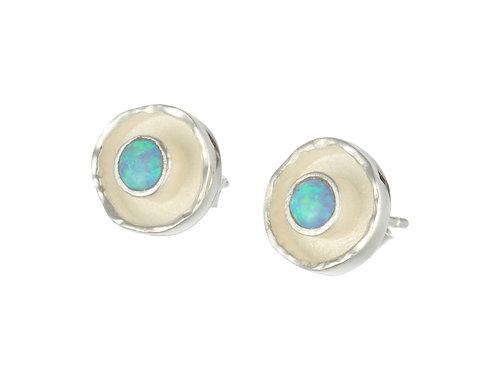 Blue Opalite stud earrings