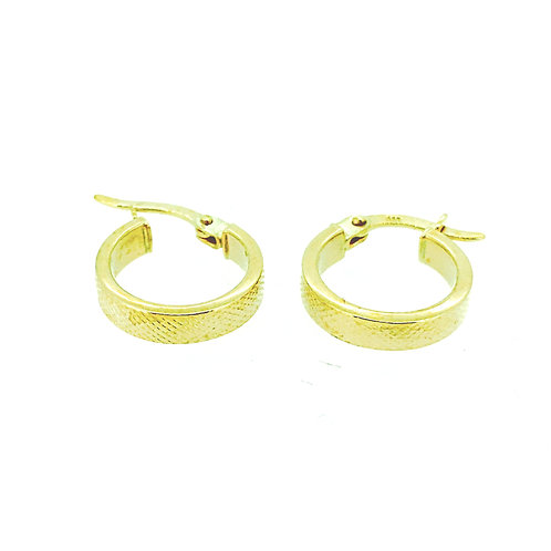 Textured small gold hoop earrings