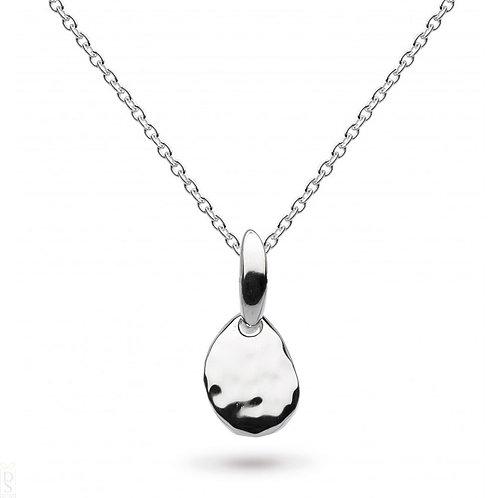 Coast pebble small hammered pendant