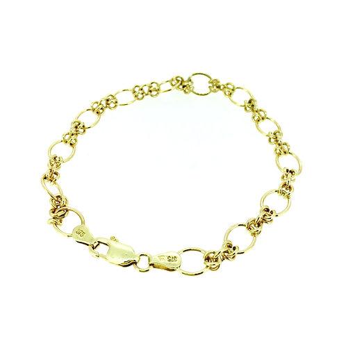 Circle link gold bracelet