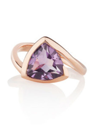 Amore amethyst and rose gold plated ring