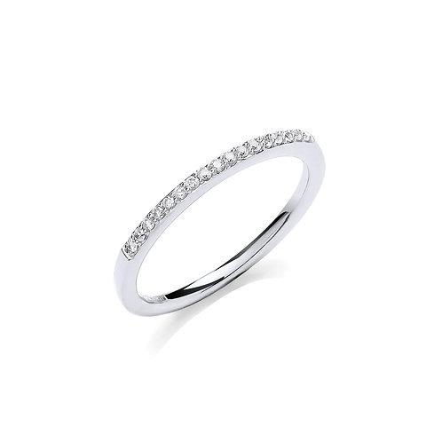 Diamond 9ct White Gold Eternity ring