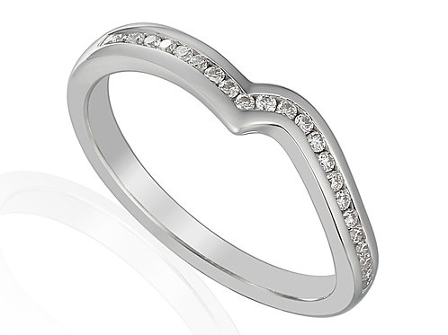 Platinum and Diamond shaped eternity ring