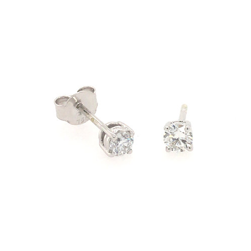 Diamond 0.3ct Solitaire (Lab grown) 18ct White Gold stud earrings