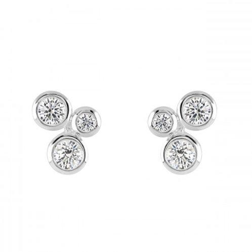 Scattered CZ stud earrings