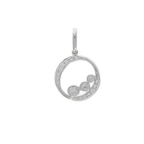 Diamond bubble pendant on 18ct white gold chain