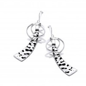 Samurai silver drop earrings