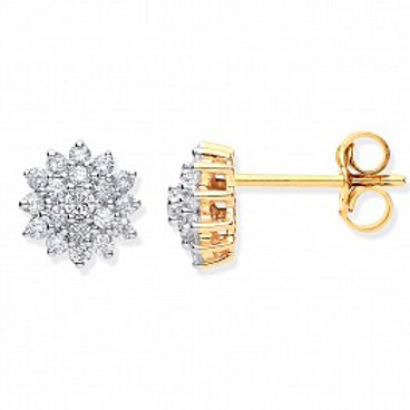Diamond Daisy Cluster stud earrings