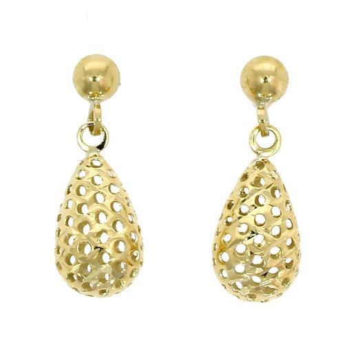 Pierced Bomb drop earrings