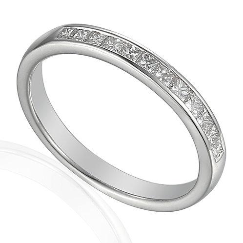 Diamond 12 stone Channel set Platinum Eternity ring