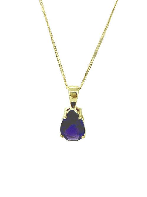 Amethyst gold pendant