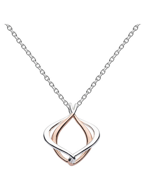 Infinity Alicia small silver and gold plate pendant
