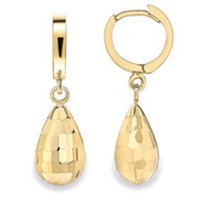 Gold drop huggie earrings