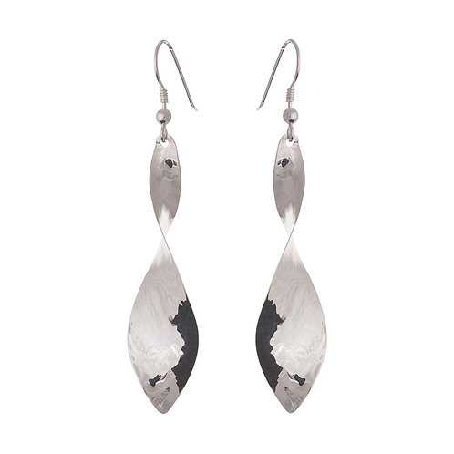 Narrow twist drop earrings