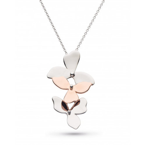 Blossom Bloom Trio and Rose Gold Plated Necklace