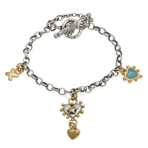 Halo and Boho heart bracelet